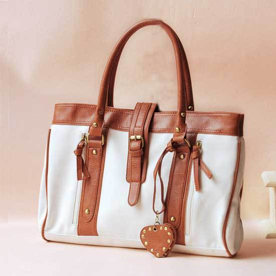 Handbags-YOKO837-whitebrown